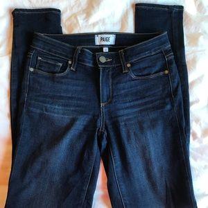 Paige skinnies - size 27 - dark wash